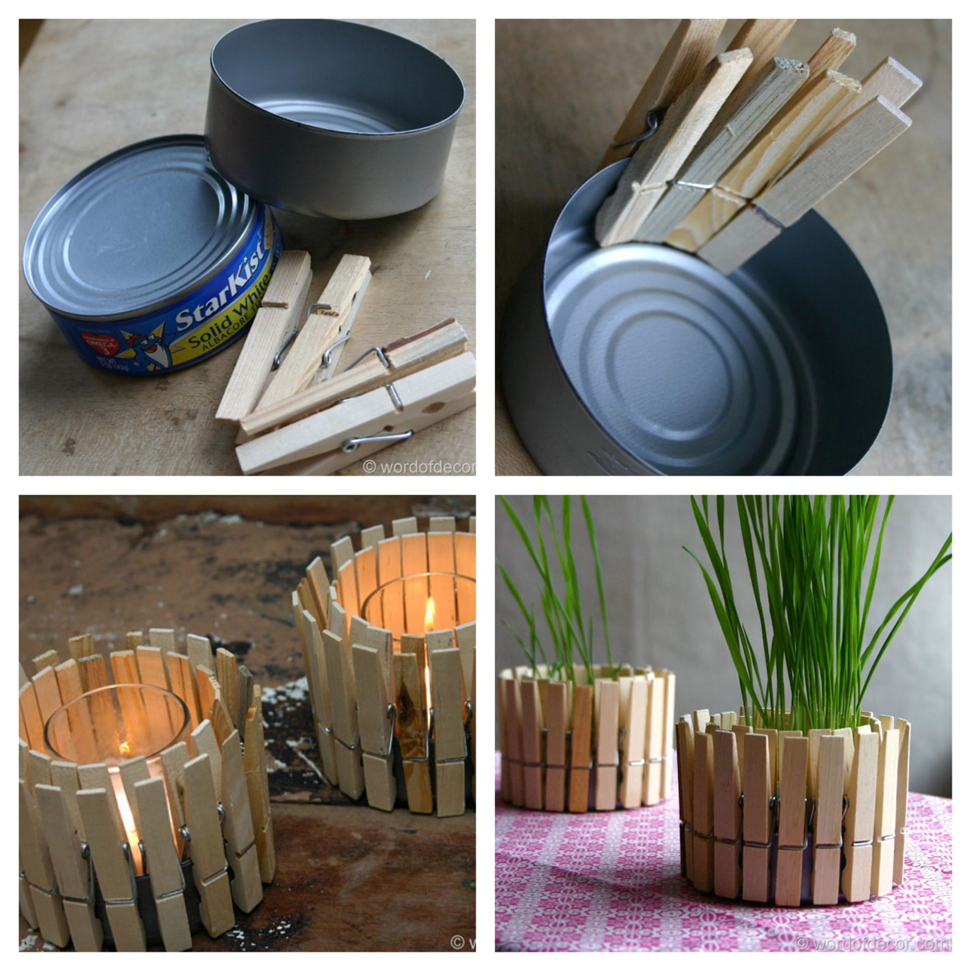 homemade candle holder and planter arts and crafts. Black Bedroom Furniture Sets. Home Design Ideas