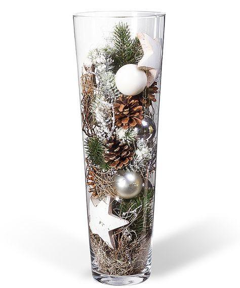 Weihnachtsdeko Zum Bestellen.Kugelvase Vorfreude 50cm Weihnachtsbaum Dekoration