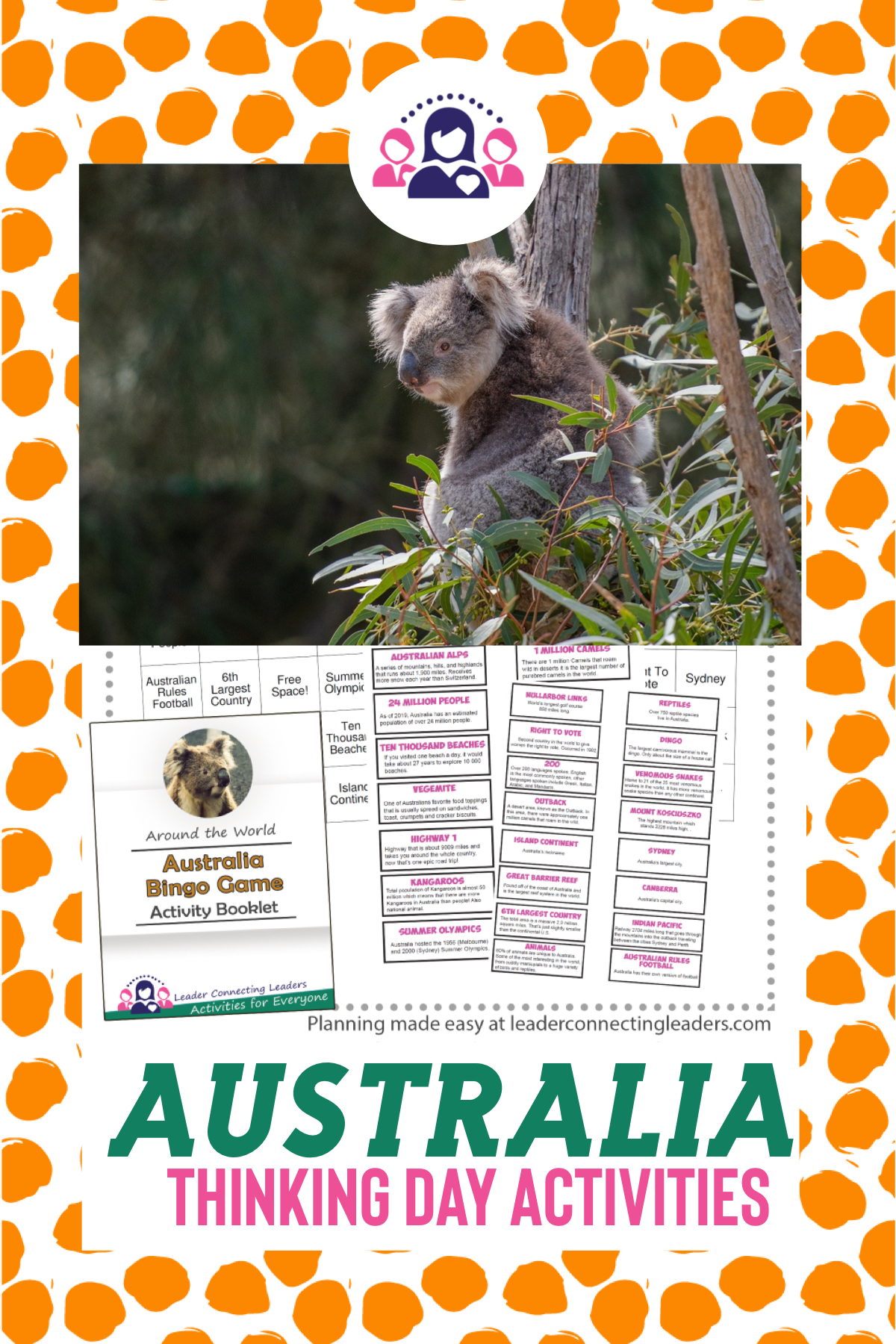Australia Fun Fact Bingo Game In 2020 Australia Fun Facts Fun Facts World Thinking Day