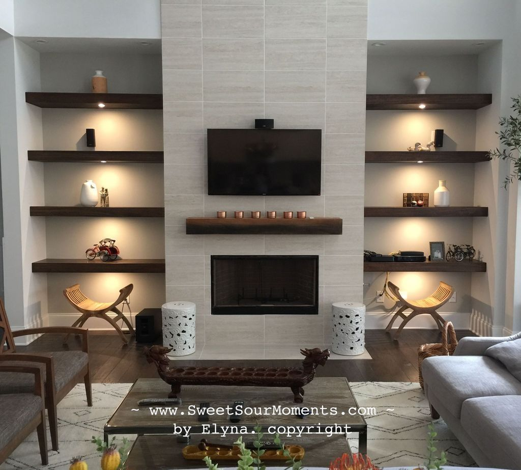 20+ Cool Foyer Designs Ideas For Home   Modern fireplace