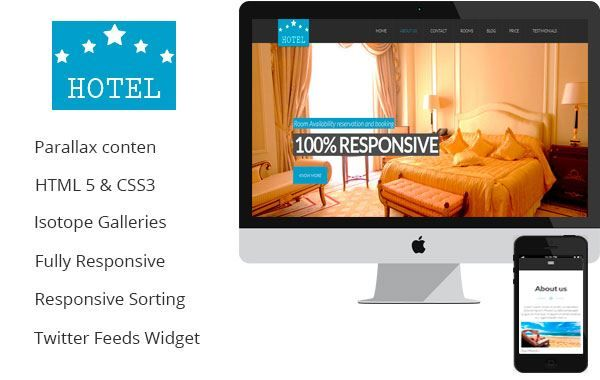 Hotbootstrap - Comfort u2013 A One Page Hotel   House Rent Parallax - house for rent template