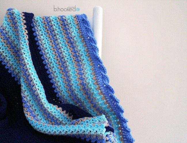 Crochet Baby Waves Afghan - Free Pattern & Tutorial | Fadenkunst ...