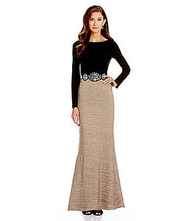 Cachet Embellished Waist Mermaid Gown Dillards Craftsdecorating