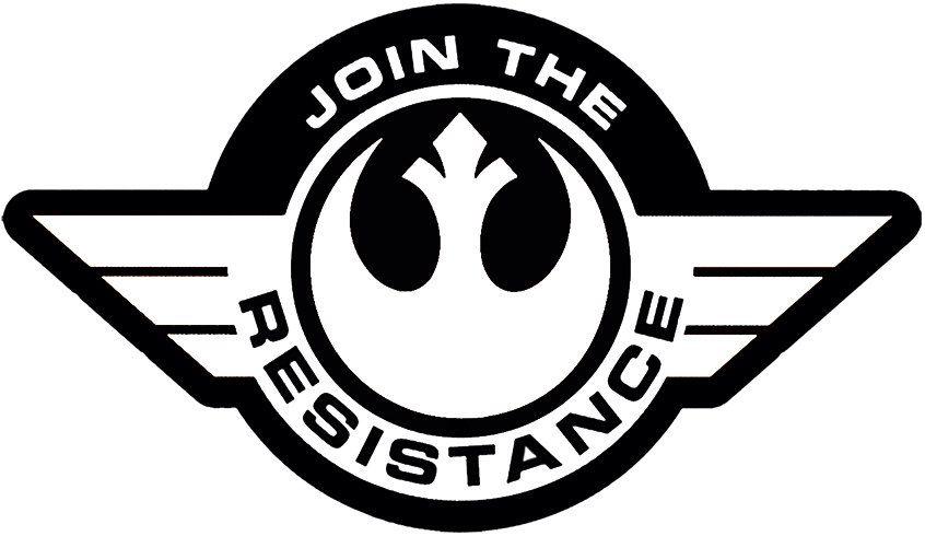 star wars resistance symbol logo decal for carlaptop