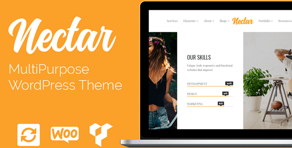 Nectar Drag & Drop WordPress Theme Wordpress theme