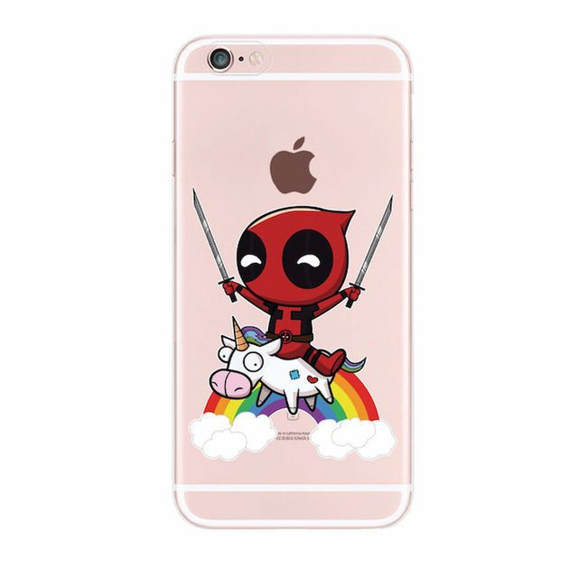 huge discount 2650e e4a91 Details about DEADPOOL with Unicorn Case Cover for iPhone 5 5s 6 6s ...