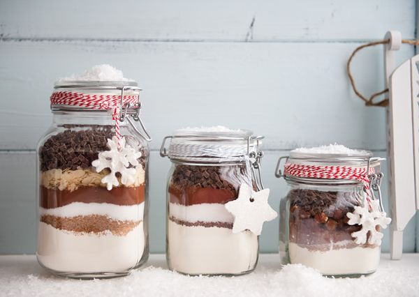 Baking gifts in a jar.