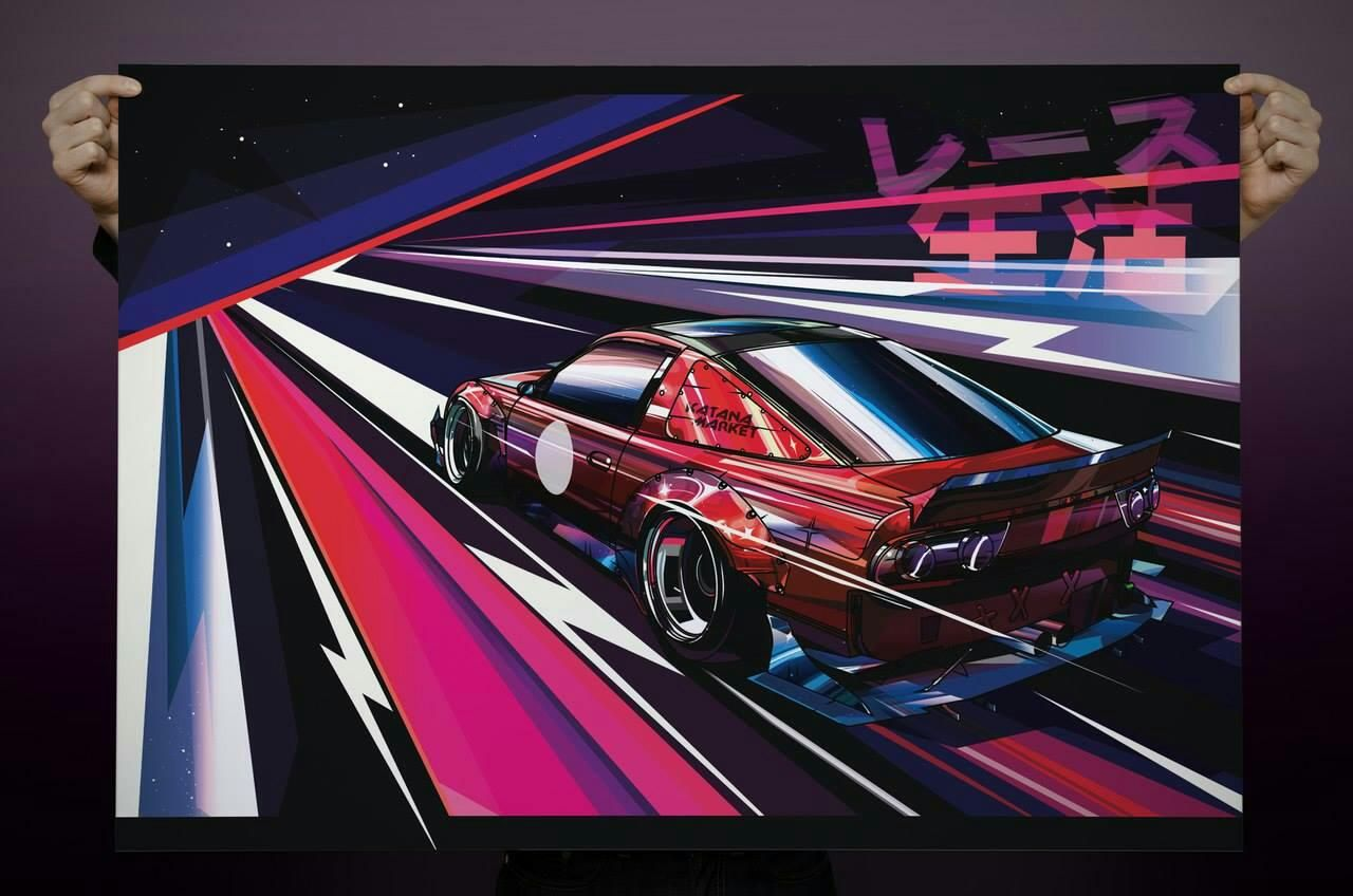 Pin by King Leeroy on OutRun Automotive art, Art cars