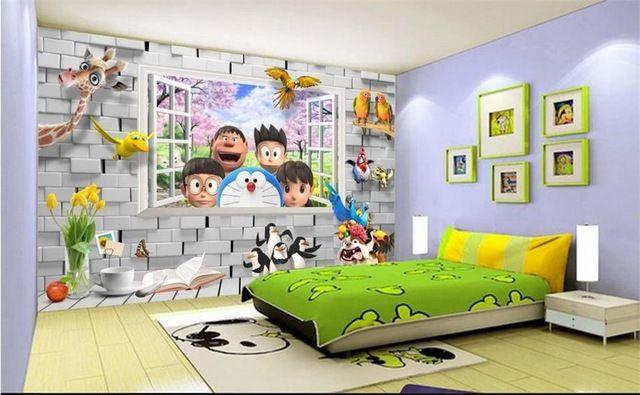 Wallpaper Dinding Kamar Doraemon