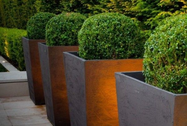 Budget Square Tapered Planters Con Imágenes Patios 400 x 300