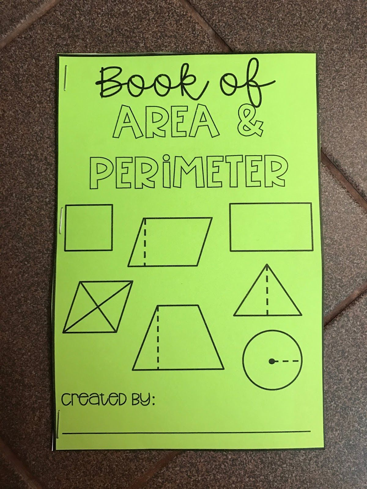 Editable Area And Perimeter Foldable