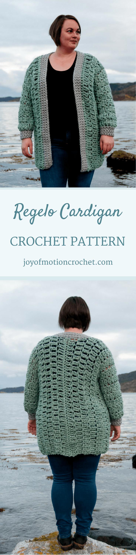 Regelo Cardigan - Intermediate Crochet Pattern Design   Große größen ...