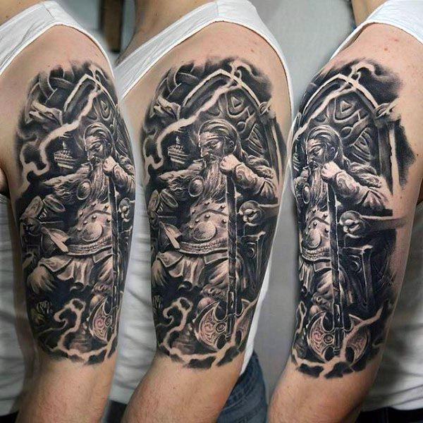 cool mens viking warrior arm tattoo designs warrior tattoo pinterest arm tattoo viking. Black Bedroom Furniture Sets. Home Design Ideas