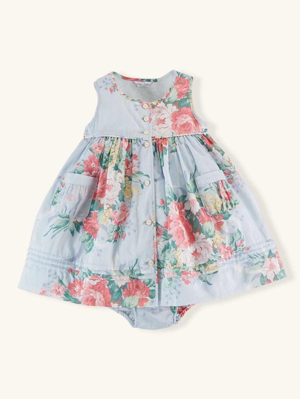 Cotton Floral Dress - Dresses & Rompers Layette Girl (Newborn–9M ...