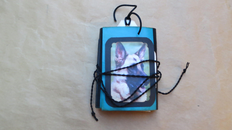 German shepherd dogthemed mini junk journalwritersart