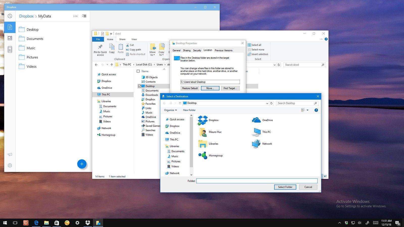Sync Your Windows 10 Desktop And Documents To Dropbox Windows 10 Windows Dropbox