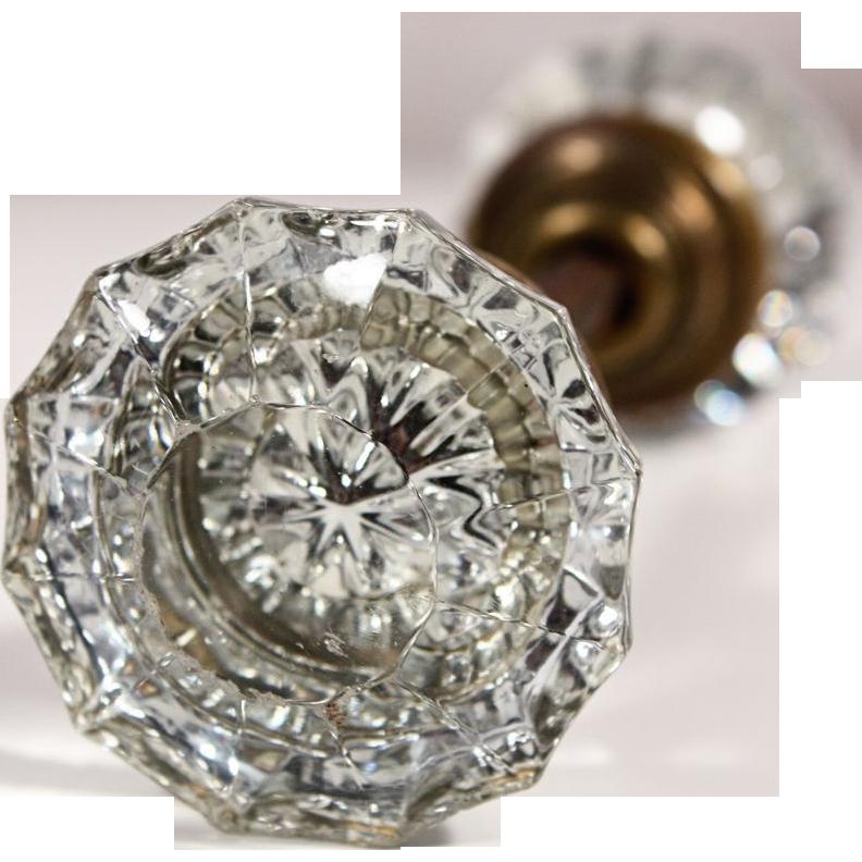 antique fluted glass door knob sets glass door knobs glass