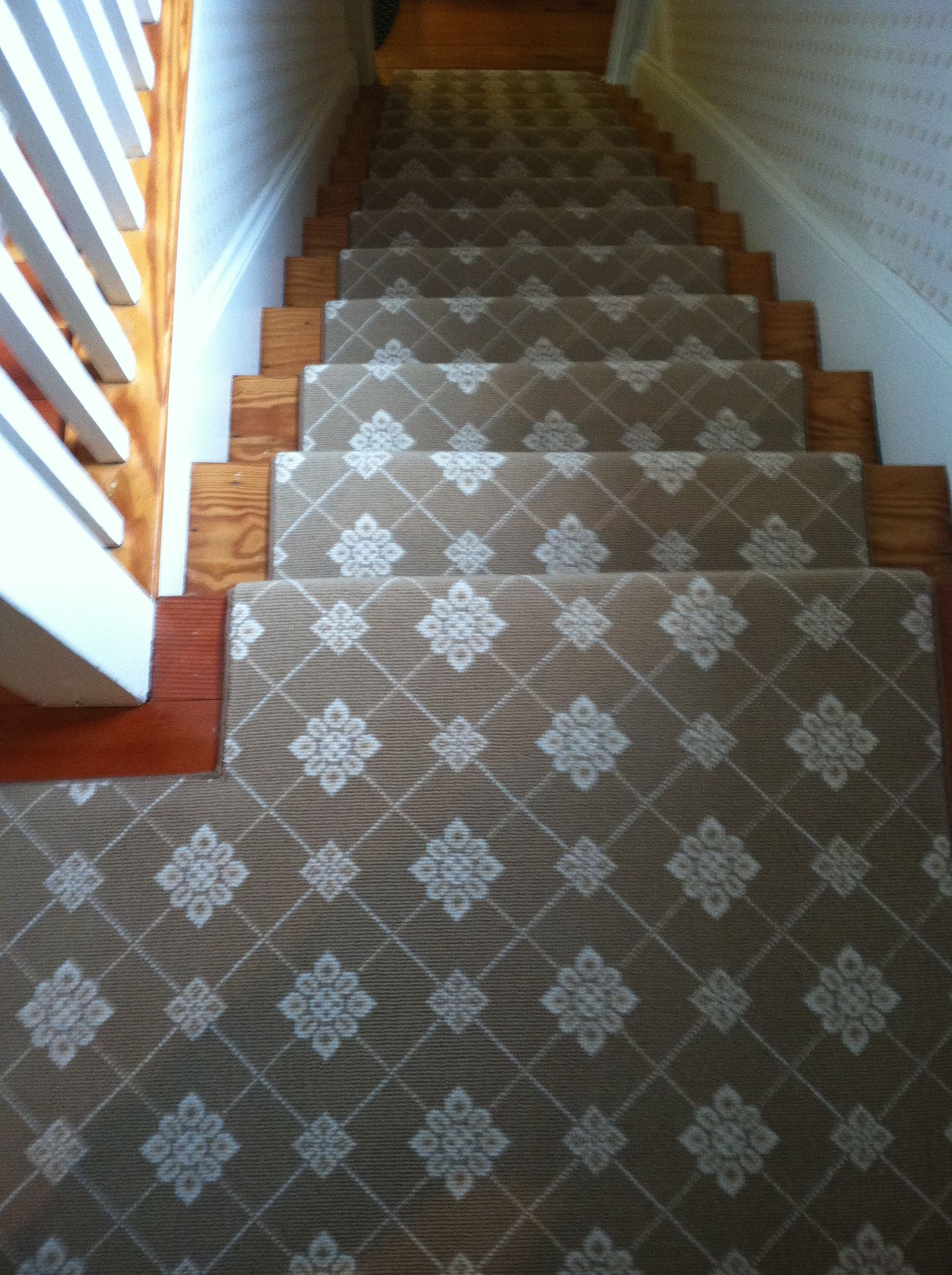 This woven wool carpet remnant was fabricated and for Woven carpet for stairs