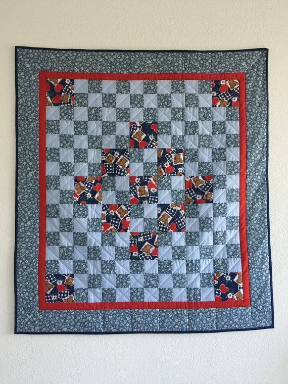Baby Quilts SALE PRICE Baby Quilts Baby boy by GotBabyGetQuilt ... : bear quilts for sale - Adamdwight.com