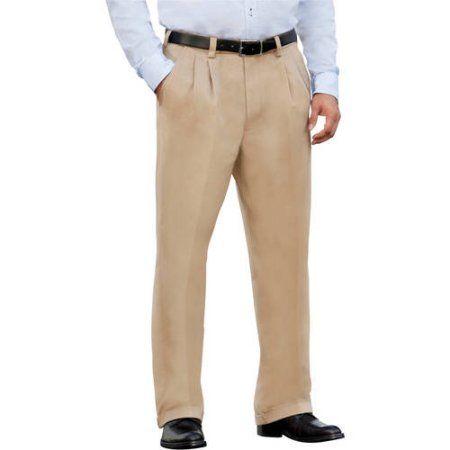 George Big Men s Premium Pleat Front Khaki Pants Size 54 x 32