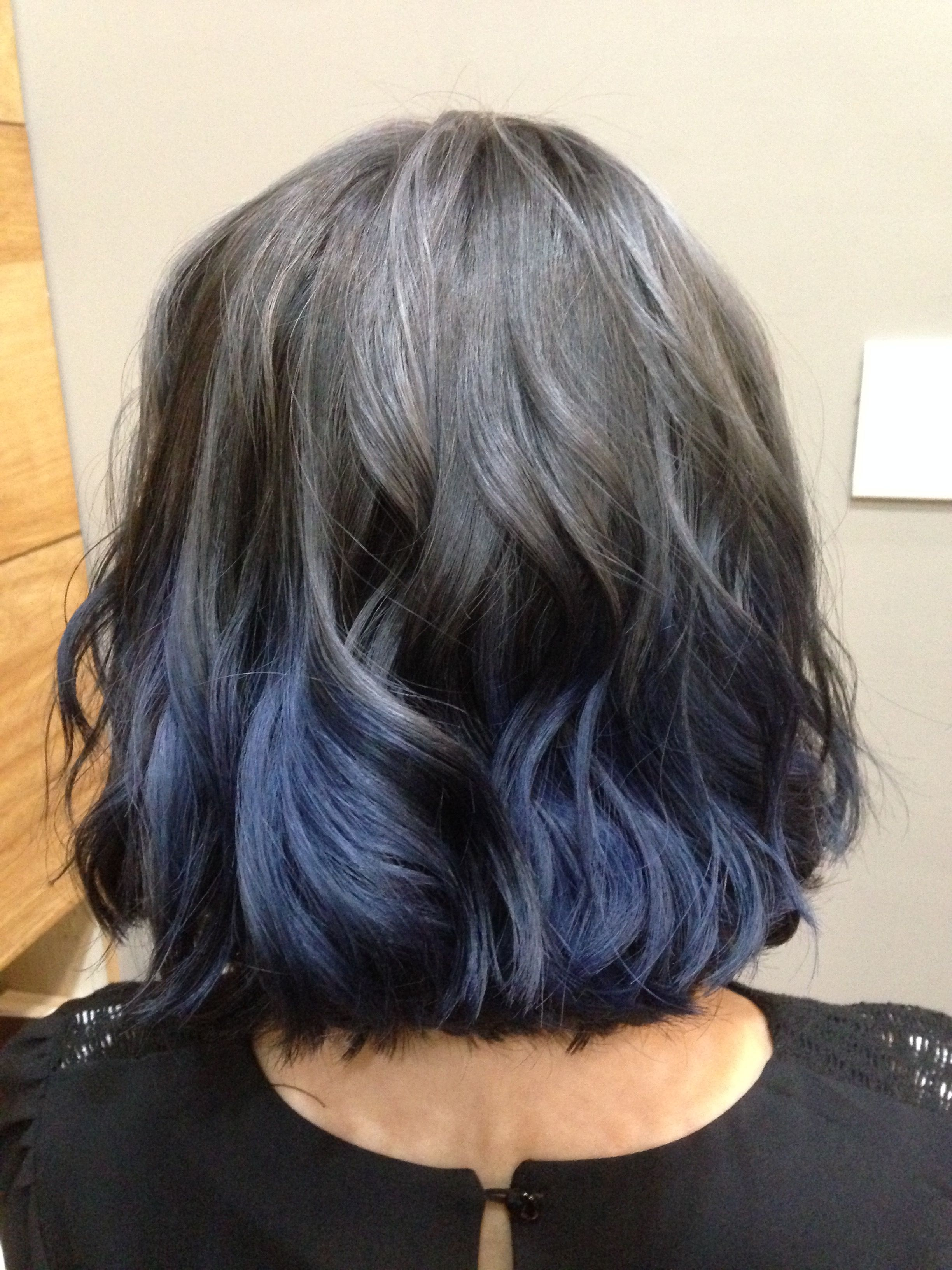 Aveda Ash Blue Hair Ombre Blue Ombre Hair Ombre Hair Brown Hair Blue Highlights