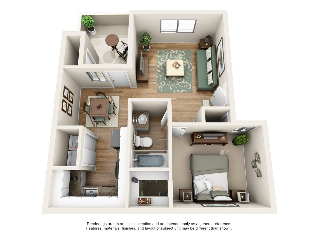 Heritage Pointe Apartment Homes 1 Bedroom 1 Bath Apartment Home House Plans Floor Plans