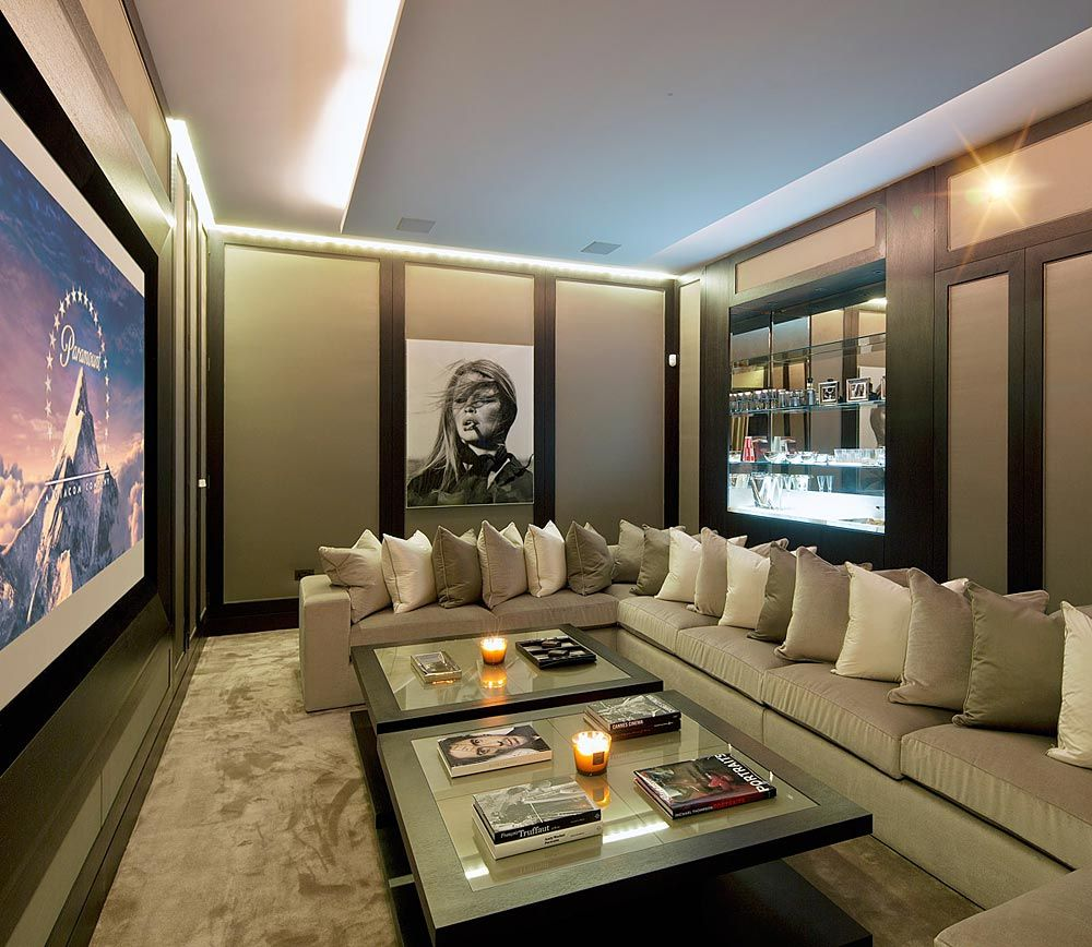 Media room with home theater u surround sound home theater design