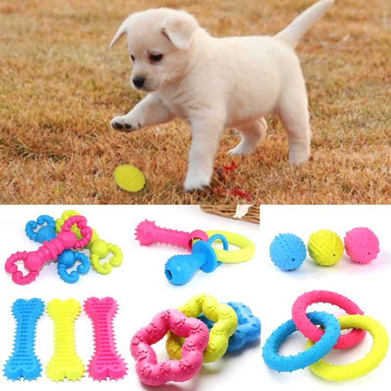 ball toy to chew tooth durable rubber for dog cat pet training dental new about pets