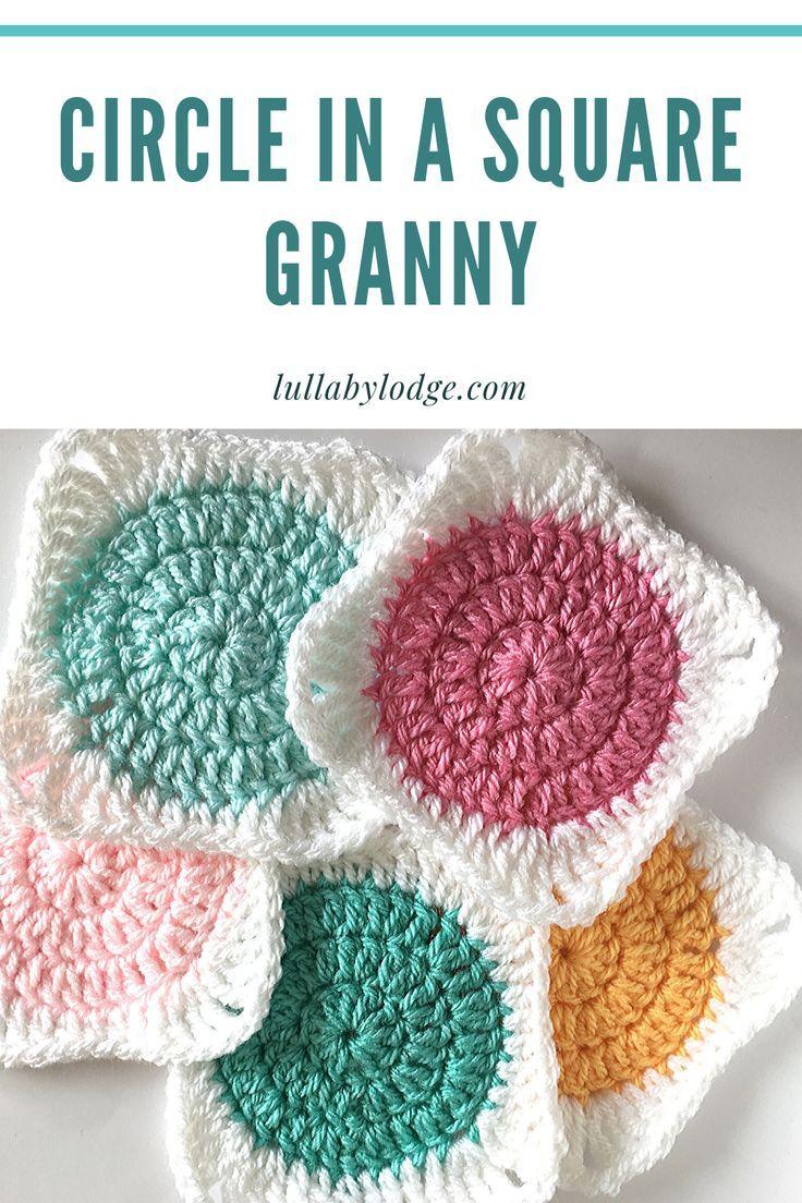 Circle Granny Squares Tutorial