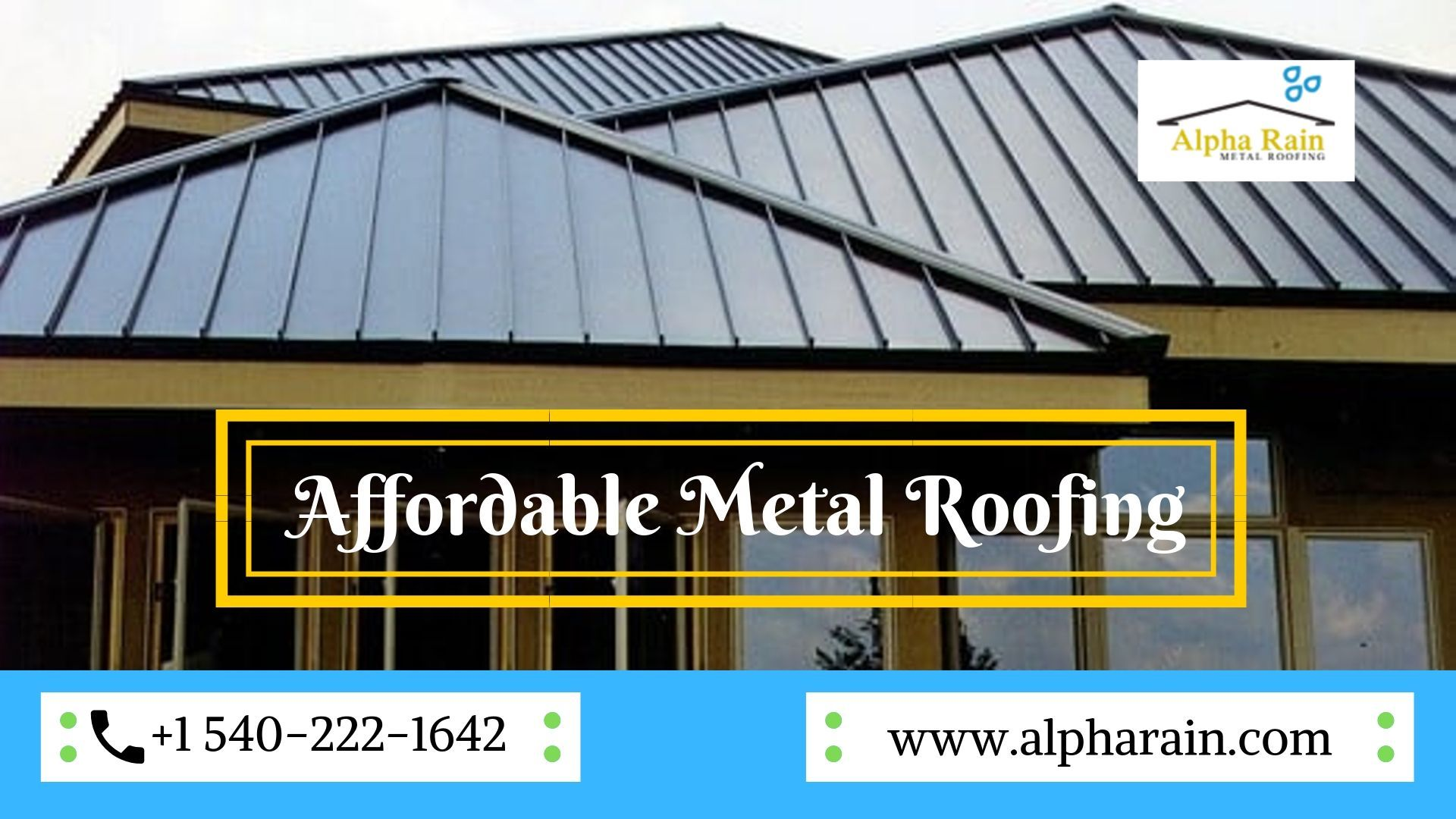 Affordable Metal Roofing Services At Alpha Rain Metal Roof Roofing Services Standing Seam Metal Roof