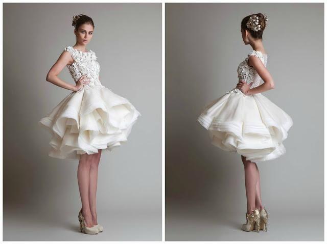 Novias que salen de lo tradicional: vestidos de novia cortos ...