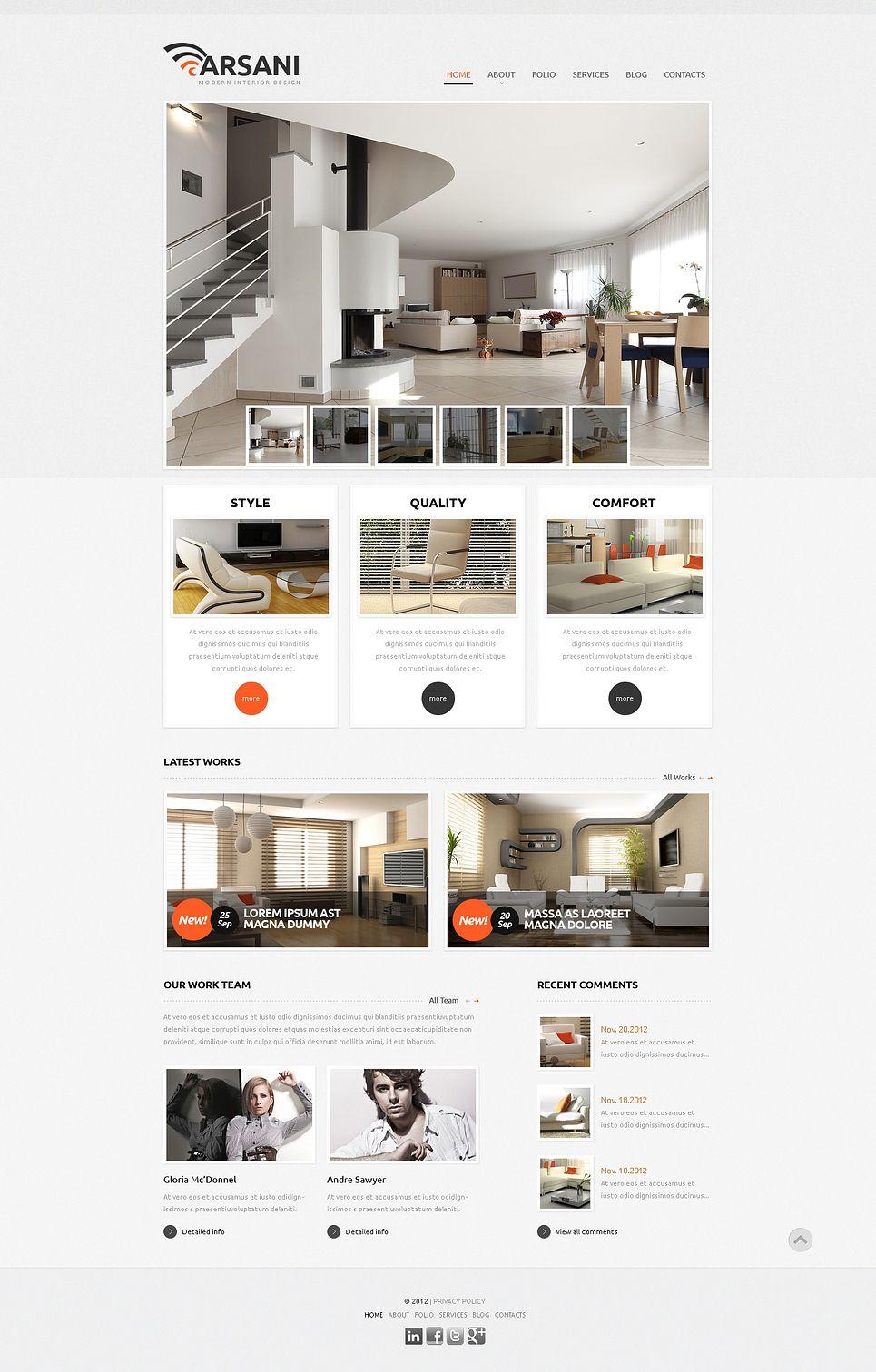 Respectable Interior Design Wix Website Template 46257