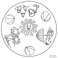 Mandala Kleurplaten Seizoenen.Afbeeldingsresultaat Voor Seizoenen Kleurplaat Zomer Knutselen