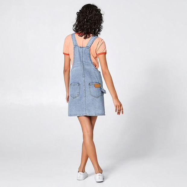 a812a886cd1 SBRN Denim Shaker Pinafore Dress