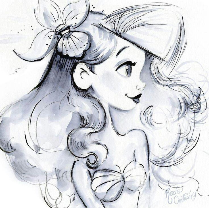 Photo of Disney Tattoo – Zeichnung einer Meerjungfrau… –  awesome Disney Tattoo – Zei…