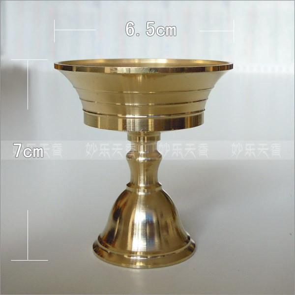 Ghee Lamp holder,height 7 cm candle holder,Tibetan Brass