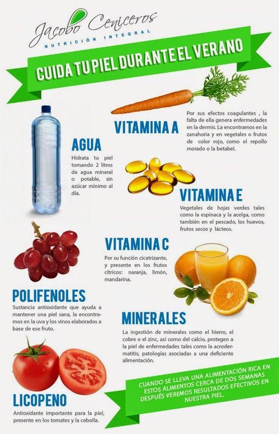 alimentos que sirven para hidratar la piel