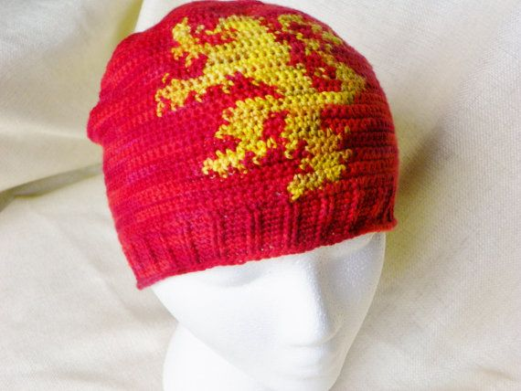 Game of Thrones Crochet Hat Lannister Lion by LindenLeasCrochet ...