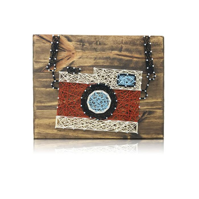 DIY String Art Kit brought to you by String of the Art! Craft this popular Vintage Camera String Art Kit for your wall decor or for a loved one.