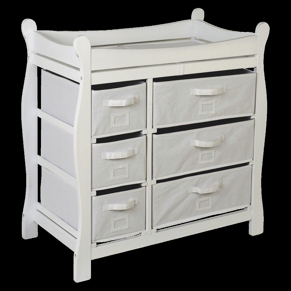 Badger Basket Baby Changing Table White