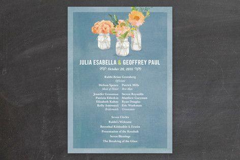 Bouquet D Amour Wedding Programs Program Examples