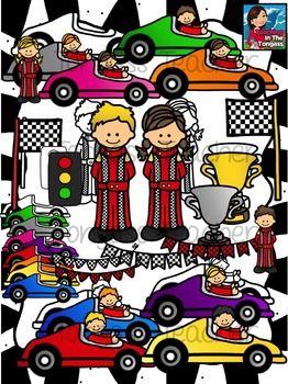 Race Car Clipart Bundle Clip Art Racing Race Cars