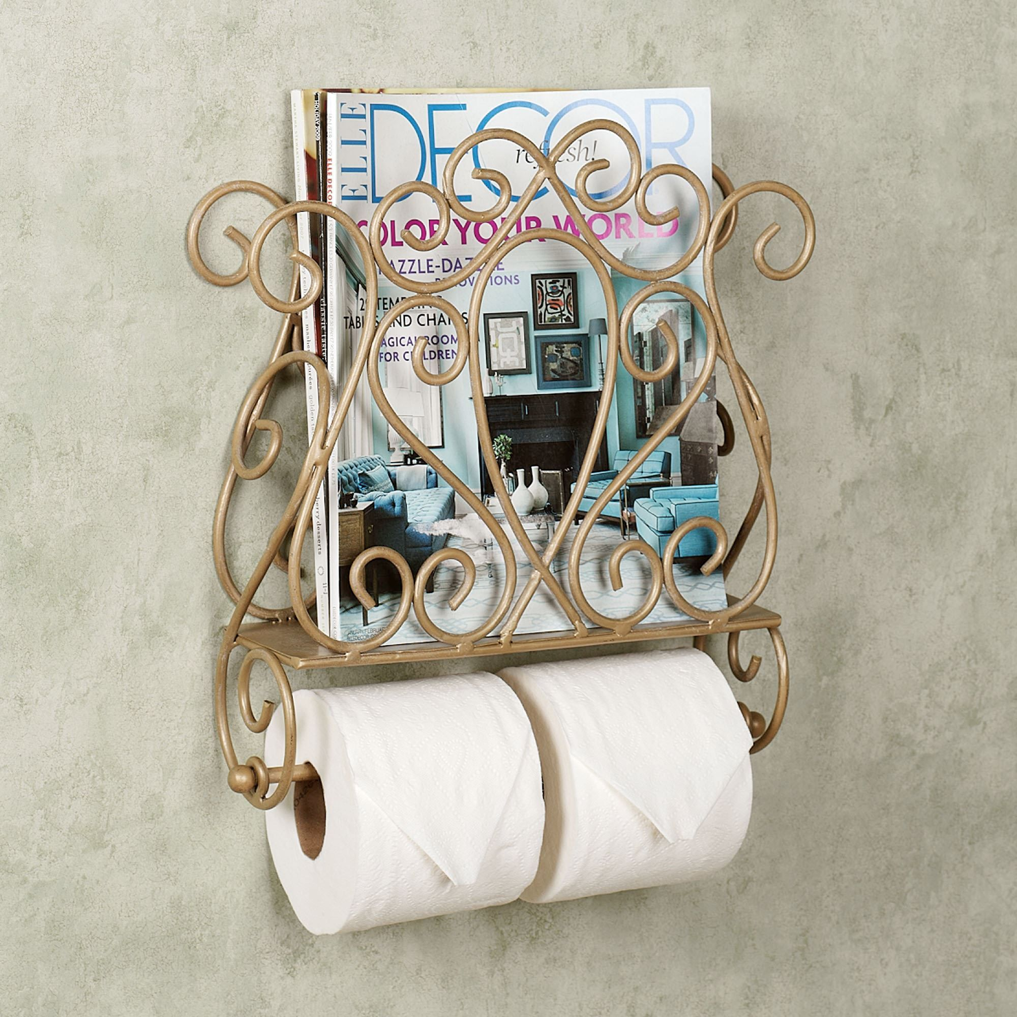 Gianna Wall Mount Magazine Rack And Toilet Paper Holder Toilet Paper Holder Wall Mounted Magazine Rack Wall Magazine Rack