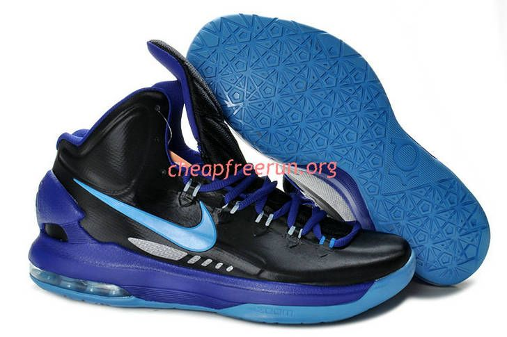 pretty nice 9e300 664a9 New Nike Zoom KD V Kevin Durant 5 Shoes For Sale Black Purple Blue 554988  003