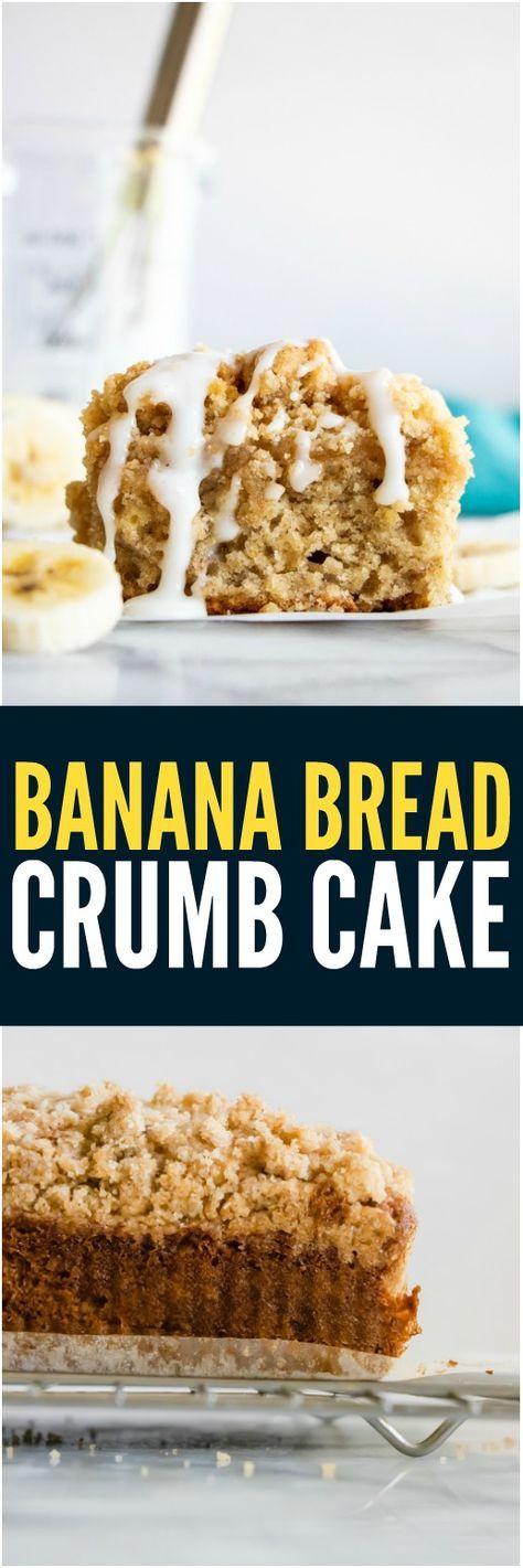 Banana Bread Crumb Cake. Tender and soft this banana cake ...