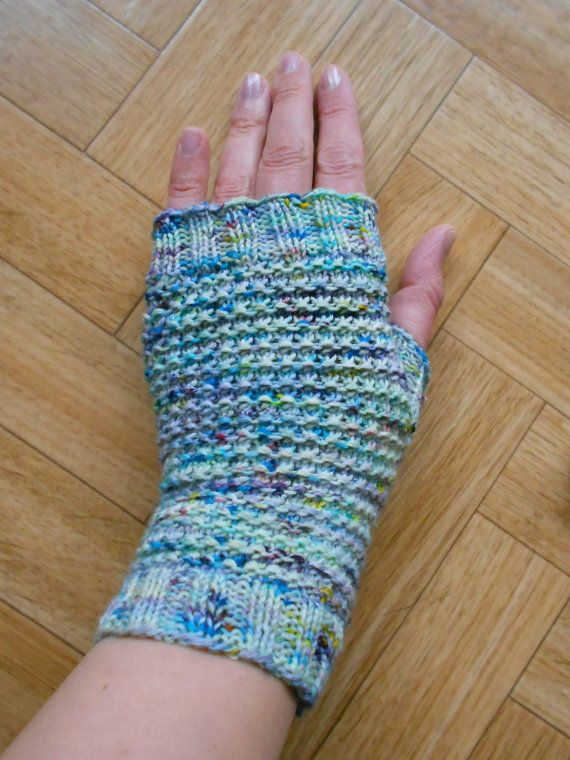 Speckled Fingerless Gloves Knitting Pattern Knit Fingerless