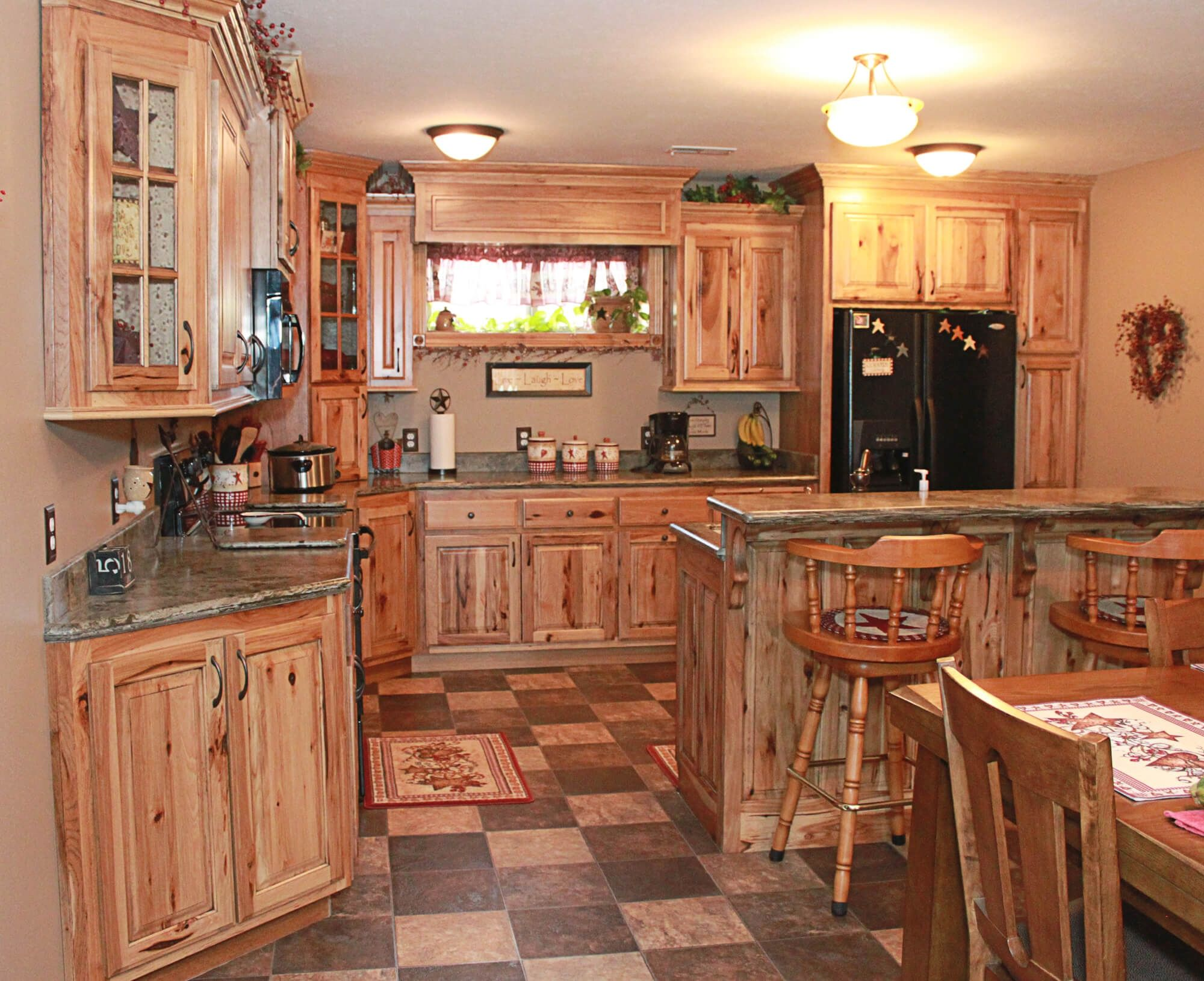Rustic Hickory Kitchen Cabinets Pictures - Kitchen cabinet may be a ...