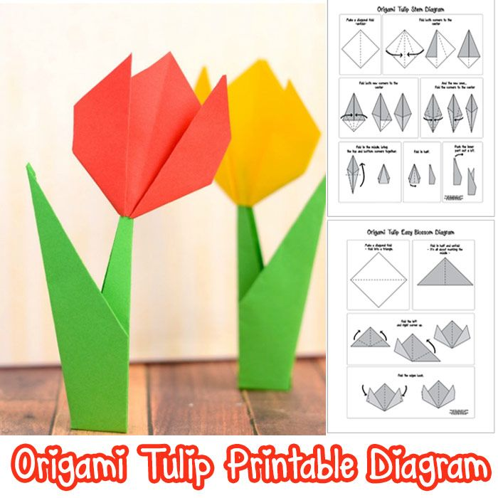 How to make origami flowers origami tulip tutorial with diagram how to make origami flowers origami tulip tutorial with diagram easy peasy and fun ccuart Image collections