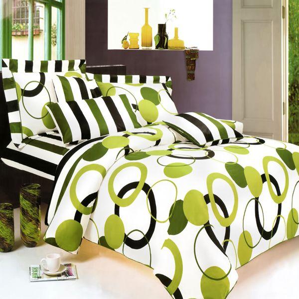 Artistic Green Twin Duvet Style Comforter Set