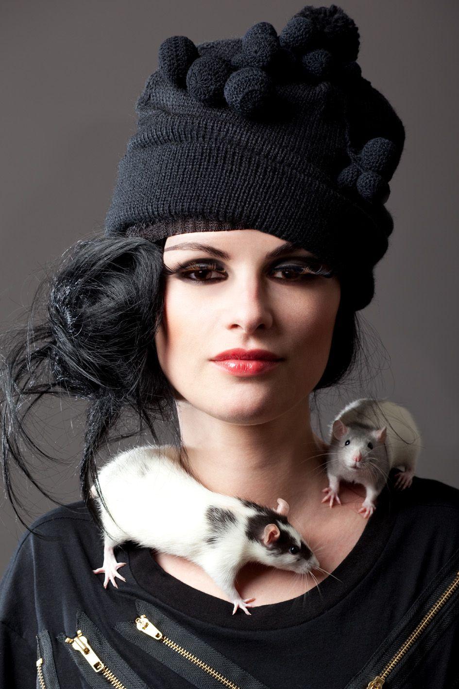 Karine Marsac for Shue Uemura (I like black and rats)